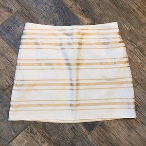 J Crew Factory Gold Stripe Glitter Skirt Holiday 8